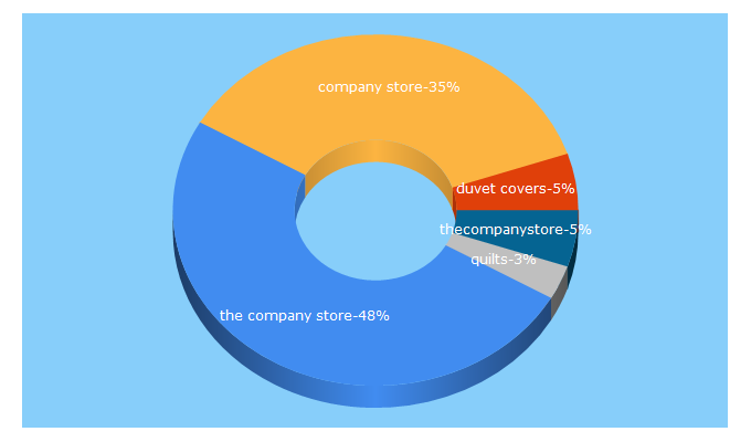 Top 5 Keywords send traffic to thecompanystore.com